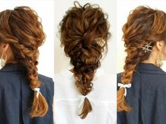 長い髪の場合はサイド寄りに作るとエルサ風に♪