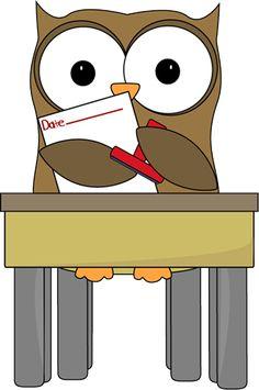 Owl Date Stamper Clip Art   Owl Date Stamper Vector Image
