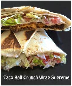 Easy dinner idea! Copy Cat Taco Bell Crunch Wrap Supreme  rensinthekitchen.com