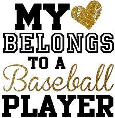 My heart belongs to a baseball player, regular fit shirt with glitter upgrade, Baseball Mom Shirt, Basketball mom shirt, football mom shirt on Etsy, $22.00