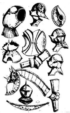 Thun Sketchbook, Helmschmied Armoury, ca 1475-1520