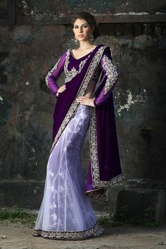 Purple sari from the 2013 BenzerWorld collection