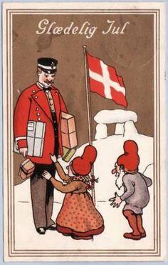 Vintage Danish Jul card