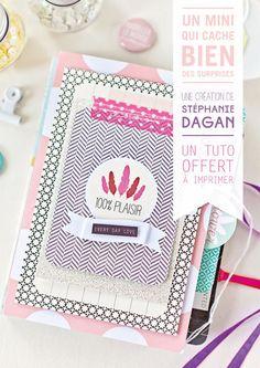 Tuto a télécharger et imprimer : un mini album qui cache bien des surprises / Signé Stéphanie D de l'équipe créative Kesi'art