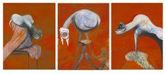 Francis Bacon, Tre Studi per figure alla base di una Crocifissione, 1944, Londra, Tate Britain
