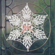 Best Free Crochet » FP319 Pineapple Snowflake Suncatcher Crochet Pattern
