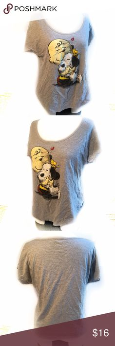 """Peanuts Snoopy Woodstock Charlie Brown T-Shirt - M Peanuts Snoopy Woodstock Charlie Brown T-Shirt - Size M Everything Will Be Okay  23 1/2"""" arm pit to arm pit 21"""" length Disney Tops"""