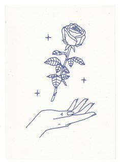 """lemaddyart: """" """"Arose"""" Maddy Young, 2015 A5 Risograph print, available here """""""