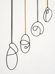 """AMY LOGAN -UK  """"The current collection is heavily inspired by the drawn line. From impressionistic line drawings, taken from photographs of everyday landscapes, lines are picked out to translate into forms which are then used to create fluid jewellery."""""""