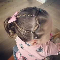 Hairstyles For Girls Kids Curly - Hairstyles Toddler Hair Dos, Easy Toddler Hairstyles, Easy Little Girl Hairstyles, Girls Hairdos, Cute Little Girl Hairstyles, Baby Girl Hairstyles, Easy Hairstyles, Hairstyles For School, Toddler Girls Hairstyles