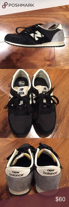 New Balance 420 sneakers (men's sz 5.5, women's 7) Worn a handful of times. Still in excellent condition- these are the 420's so they are a little lighter in look and feel than the 720's. NOTE: These are a men's size 5.5. I am Ty's women's size 7 New Balance Shoes Sneakers