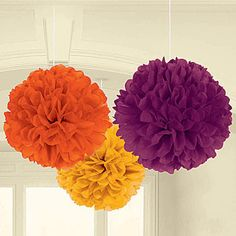 Fall Tissue Poms, Fall Tissue Pom Poms