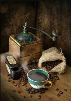 Vintage Coffee Grinder & Coffee Beans Photo www.MadamPaloozaEmporium.com www.facebook.com/MadamPalooza