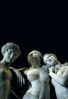 Les Trois Grâces (The Three Graces) - Jean-Jacques (James) Pradier (French, Louvre Museum, Paris, France. Statues, Louvre Museum, Art Sculpture, Metal Sculptures, Abstract Sculpture, Bronze Sculpture, The Secret History, Art Plastique, Belle Photo