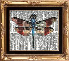 DRAGONFLY  Vintage Dictionary Print Antique by LoveThePicture, $6.00