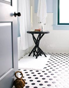 polka dotted floor
