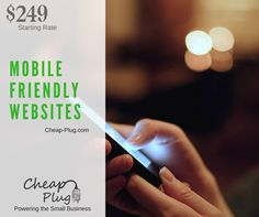 After 15 years consulting and designing web sites, we are now using our expertise to energize the small business.  Get your business online today with a Mobile-Friendly Website, which can be viewed on any mobile device, from Mobile Phones to Tablets.  More info at Cheap-Plug.com