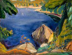 Arthur Lismer - On Pender Island, East Coast of Vancouver Island, BC, 14 x Oil on canvas Tom Thomson, Little Pool, Northern Canada, Wild Iris, Group Of Seven, Vancouver Island, East Coast, The Rock, Wilderness