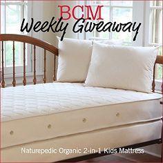 BCM Weekly Giveaway: Naturepedic Organic 2-in-1 Kids Mattress