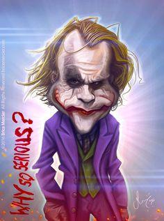 Caricature de Heath Ledger par Brice Mercier