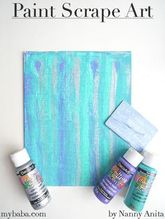 Paint scrape art is a fun process in which children can make their own pieces of abstract art. Scrape Painting, Block Painting, Painting For Kids, Project Ideas, Craft Ideas, Crafts For Kids, Arts And Crafts, Daisy Scouts, Painting Activities