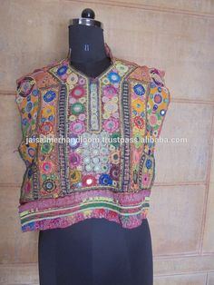 india and pakistan tribal gypsy pieces with mirror work embroidery