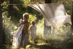 Elena Shumilova's photographs of her sons