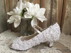 First Communion All Lace Hand Beaded Flower by LaBoutiqueBride