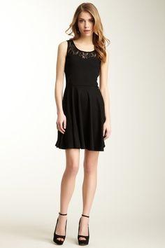 Black dress + lace detail