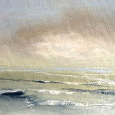 Cloudburst over the waves....oil painting by Judy Jacobs #Zenscape