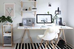 Várias inspirações de decoração para quem procura um lugar na sua casa para trabalhar ou estudar.
