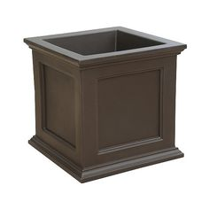 28' Square Fairfield Planter ($450) ❤ liked on Polyvore featuring home, outdoors, outdoor decor, brown, outdoor wooden planters, square wooden planters, outdoor planters, wooden panels and mayne planters