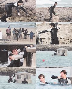 The Third Annual Quarter Quell.  Haha in the last picture it looks like Peeta hit finnick with his elbow!! <3