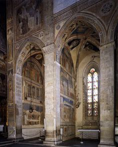 View of the Peruzzi and Bardi Chapels, Santa Croce, Florence