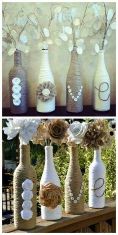 "Twine wrapped ""vase"""