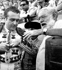 Ernest Hemingway Photo Spain 1950s Bullfight