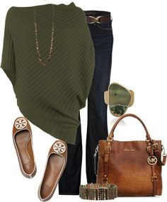 A fashion look from January 2013 featuring Max Studio sweaters, Citizens of Humanity jeans and Tory Burch flats. Browse and shop related looks. Cool Outfits, Casual Outfits, Fashion Outfits, Womens Fashion, Ootd Fashion, Fashion Clothes, Fall Winter Outfits, Autumn Winter Fashion, Mode Style