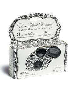 Single Use Camera - Love Bird Damask Design. Party favor idea