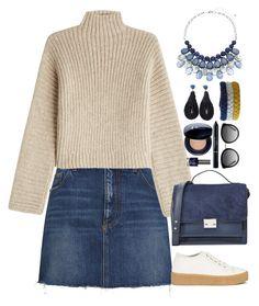 """Fall Sweater"" by gicreazioni ❤ liked on Polyvore featuring Tela Beauty Organics, Yves Saint Laurent, Rosetta Getty, MM6 Maison Margiela, Dolce&Gabbana, Loeffler Randall, Christian Dior and Topshop"