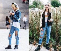 Tú decides: fishnets under jeans, ¿sí o no?