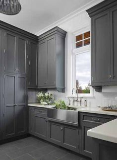 grey cabinets in the guest bath~ project #3