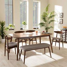 Wholesale Interiors Napoleon 6 Piece Dining Set | Scandinavian Interior Design | #scandinavian #interior