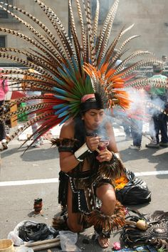 Zocalo, Mexico, Aztec dancer,cr