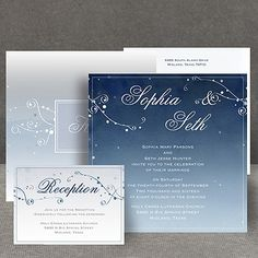 Stargazing - Invitation  Simple.  Elegant.  Theme & color work for me.  I like it.  An easy four star decision.