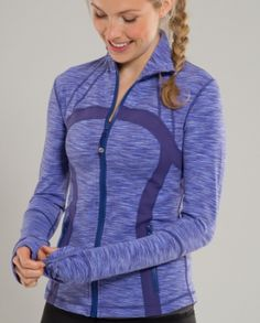 Lululemon.  I bought this jacket in the fall and love it.  It's perfect for going to the gym.