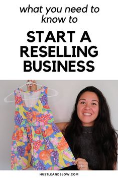 You can sell thrift store finds to make extra money from home! It's a wonderful side hustle idea that can make you a lot of profit. Selling on Ebay, Poshmark, and Mercari is one of the easiest ways to make money online. It's a legit side hustle! Make Money Fast, Make Money From Home, Make Money Online, What To Sell, Thrift Store Finds, Selling On Ebay, Starting A Business, Extra Money, Hustle