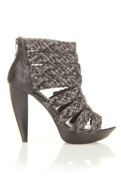 Two Lips High Beam Pump In Black & Gray -need these,too