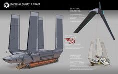 Star Wars: Rogue One and other shuttle craft by rubendevela