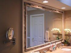 framed wood bathroom mirrors ideas