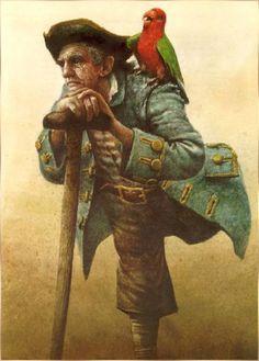 Treasure Island / Robert Ingpen illustration